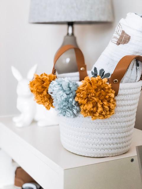 DIY Pom Pom Basket Babys Room