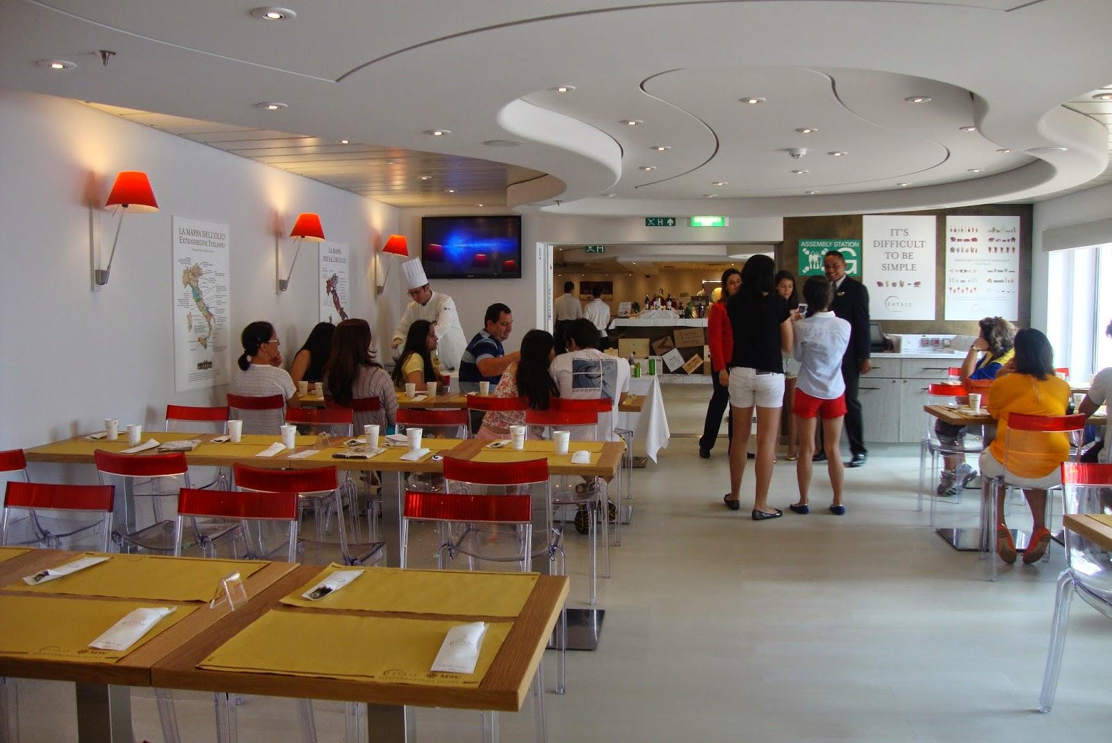 Restaurante Eataly no MSC Preziosa