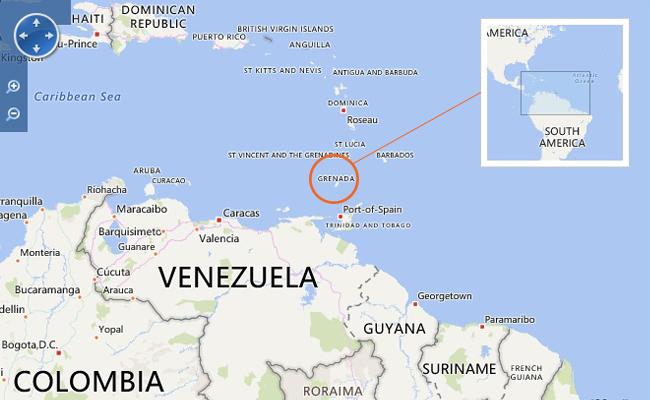 Peta Grenada