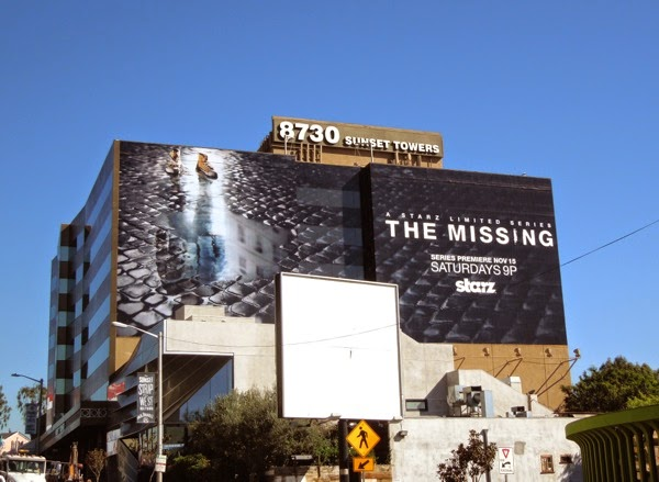 The Missing giant series launch billboard