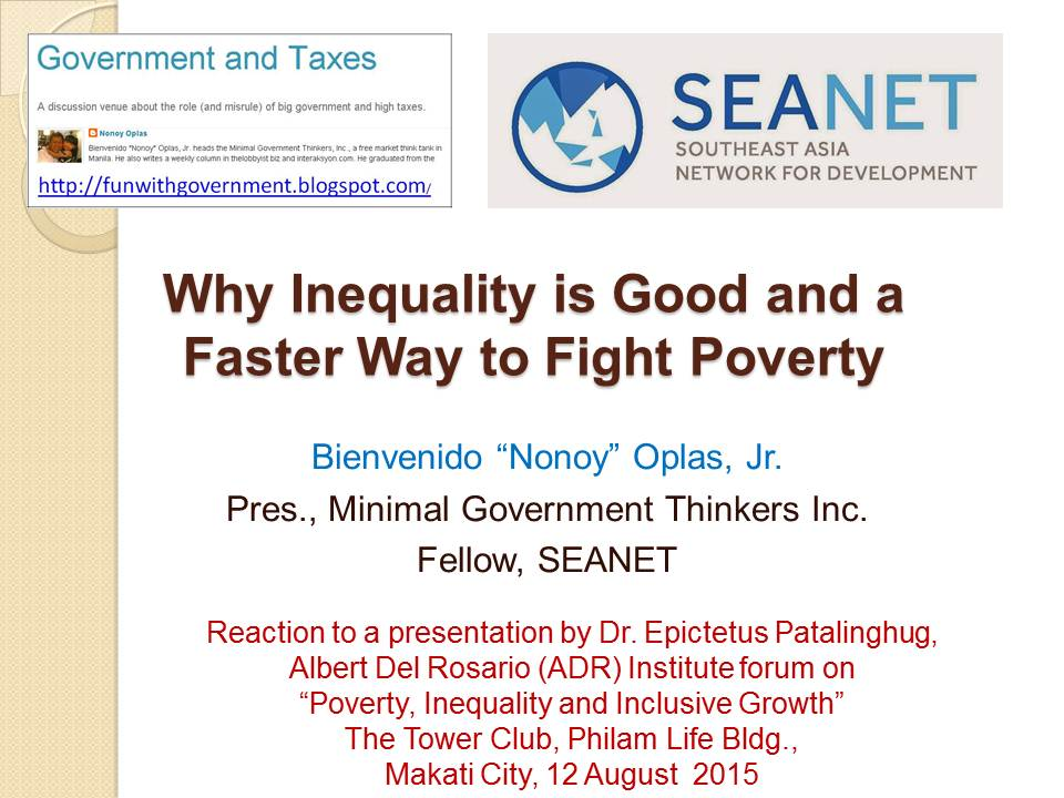 relationship among growth inequality and poverty