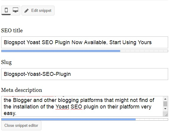 Blogspot Yoast SEO Plugin Now Available, Start Using Yours