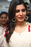 Samantha Ruth Prabhu Smiling Beauty in White Dress Launches VCare Clinic 15 June 2017 041.JPG