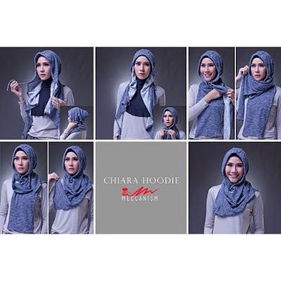 Hijab Ala Zaskia Adya Mecca Instant Motif Stripe