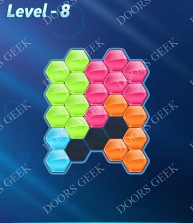 Block! Hexa Puzzle [Intermediate] Level 8 Solution, Cheats, Walkthrough for android, iphone, ipad, ipod
