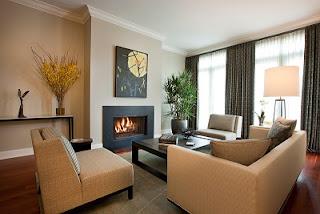 diseño de sala muebles beige
