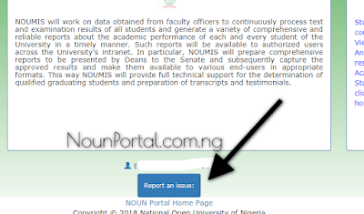 Report an Issues national open university of nigeria www.nouononline.com nouonline.com.png