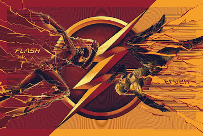 San Diego Comic-Con 2017 Exclusive The Flash TV Series Screen Print by Cesar Moreno x Mondo