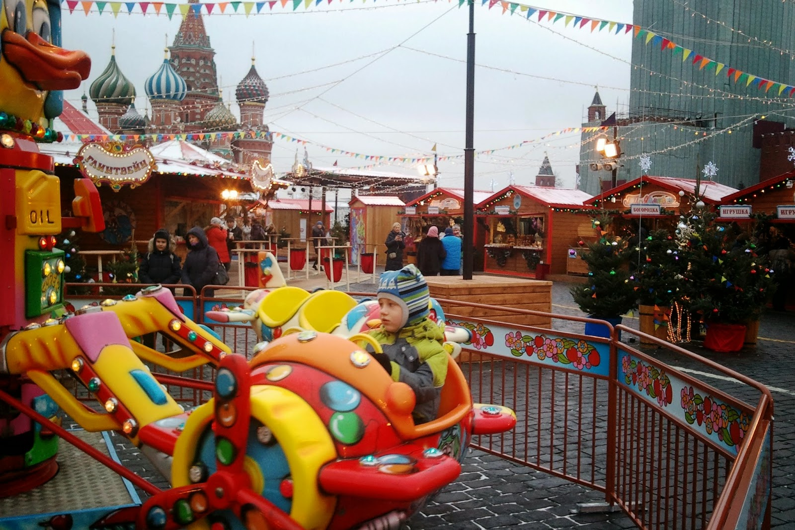 celebrating new year in moscow russia holiday fair