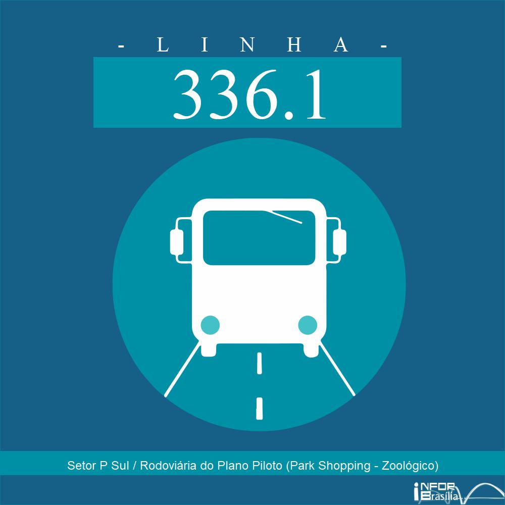 Horário de ônibus e itinerário 336.1 - Setor P Sul / Rodoviária do Plano Piloto (Park Shopping - Zoológico)