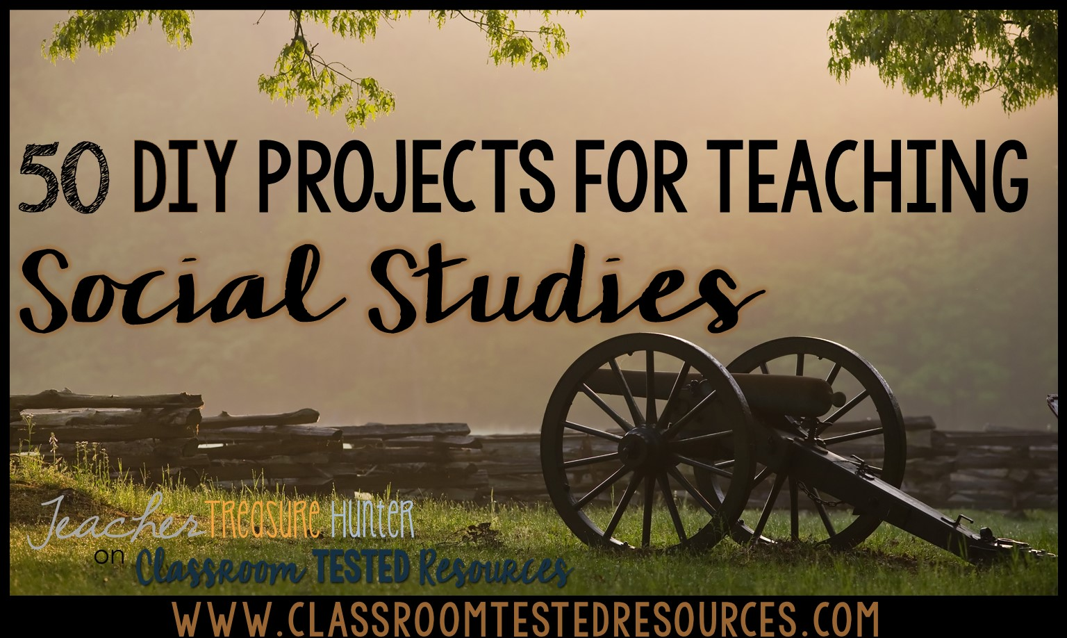 50 DIY projects for Social Studies ~ a big list of pinterest resources!
