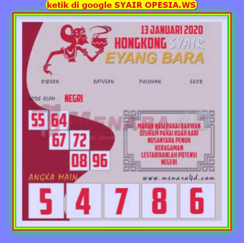 Kode syair Hongkong Senin 13 Januari 2020 156