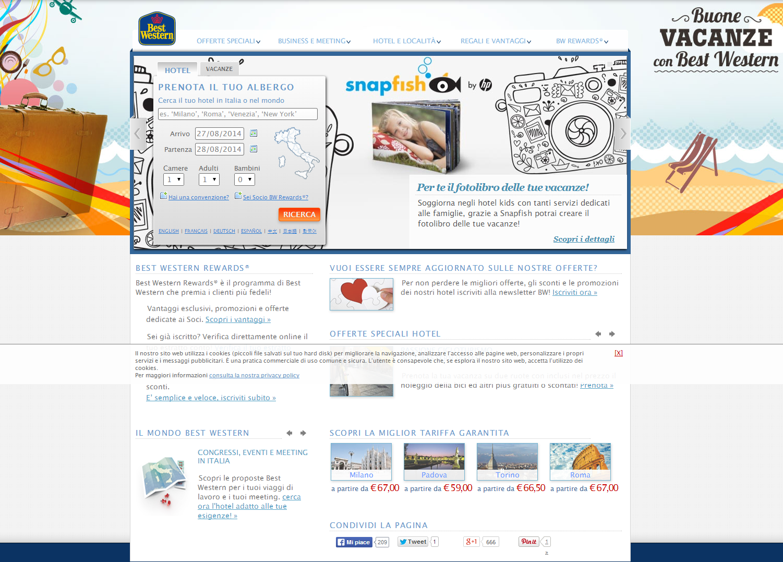 BEST WESTERN - Cerca tra più di 4000 hotel in 80 nazioni!!