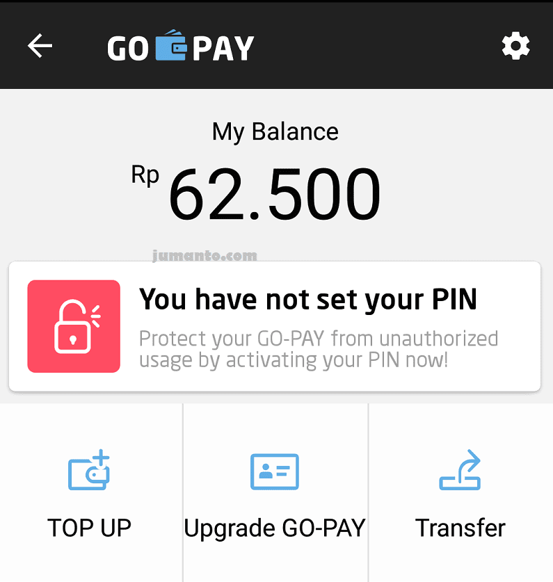 ketentuan minimal top up go pay
