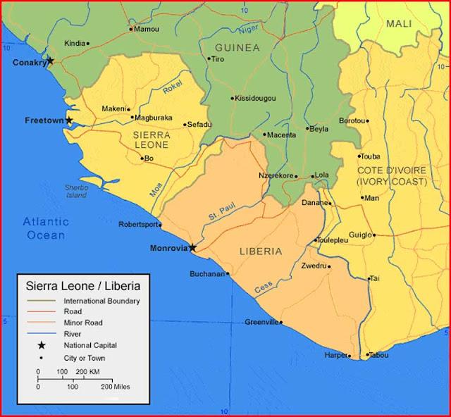 Gambar Peta Liberia