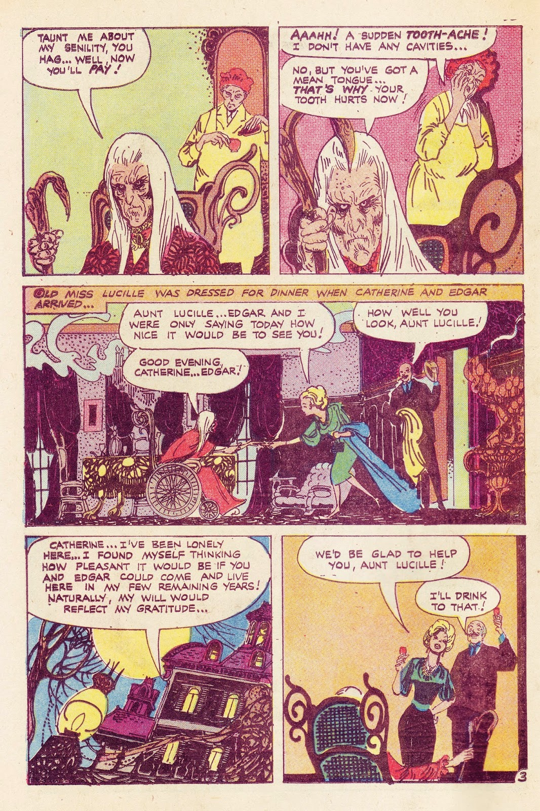 Tom Sutton Brings A Decorative Line To This StoryTheres Life In The Old Girl Yet Joe Gill Script Ghostly Tales 114 April 1975