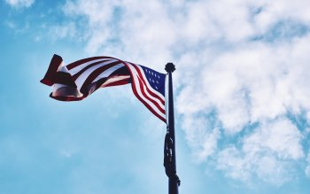 Wallpaper: American Flag in the Sky