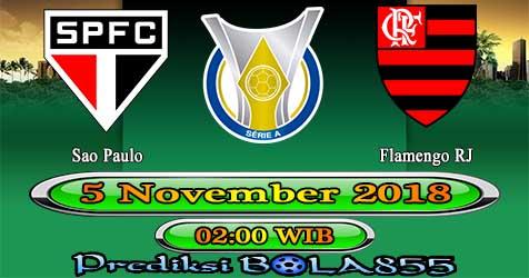 Prediksi Bola855 Sao Paulo vs Flamengo RJ 5 November 2018