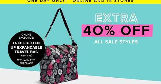 *HOT* Vera Bradley Extra 40% off Sale Styles + Free Shipping = AMAZING DEALS!