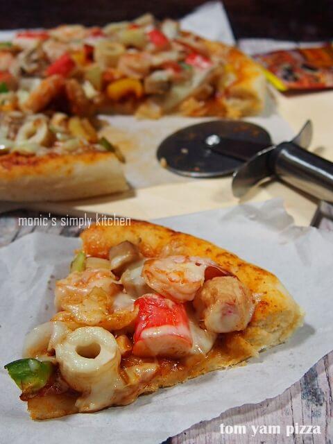 pizza tom yam mudah