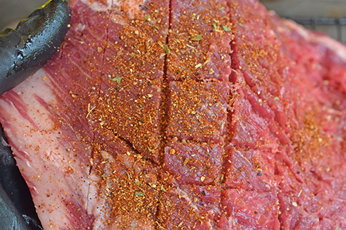 Grilling tip - stretch your meat when seasoning, compact it when cooking.