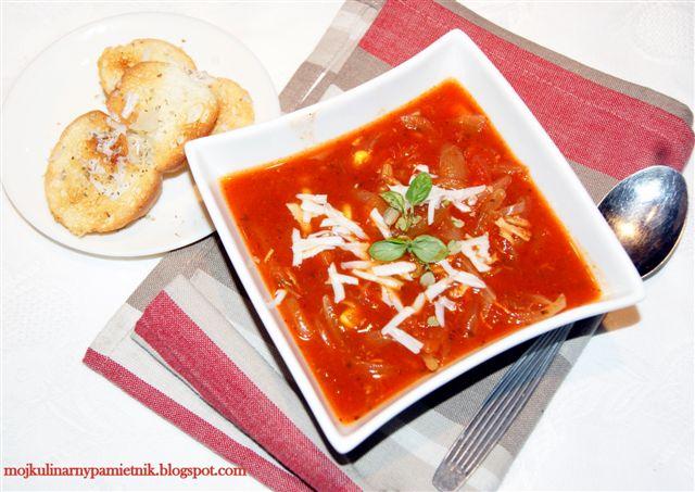 Zupa Cebulowa Pomidorowa Z Lekkim Pazurem Bernika Mój