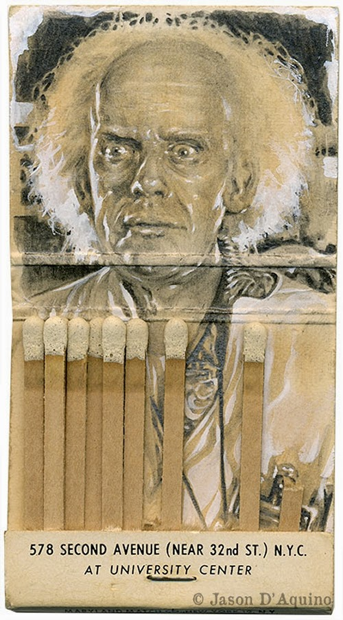03-Doc-Brown-Jason-D-Aquino-Vintage-Matchbook-Drawings-www-designstack-co
