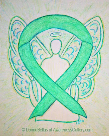Jade Guardian Angel Awareness Ribbon Image Picture