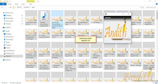 Cara Mudah Merubah Cover Album Lagu MP3-anditii.web.id