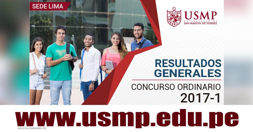 Resultados USMP 2017-1 (29 Enero) Ingresantes Examen Admisión Ordinario SEDE LIMA - Universidad de San Martín de Porres - www.usmp.edu.pe