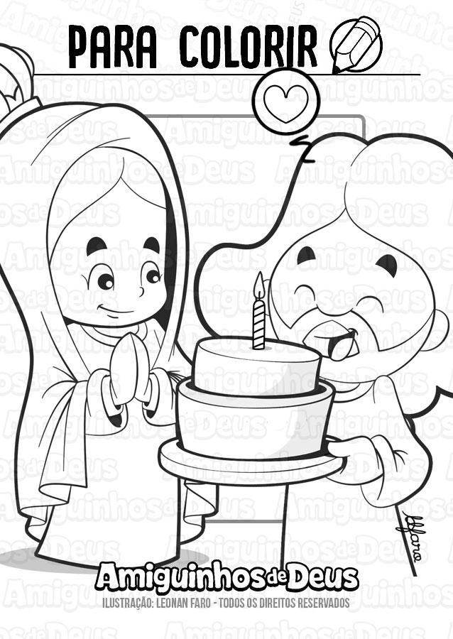 natividade de nossa senhora desenho para colorir