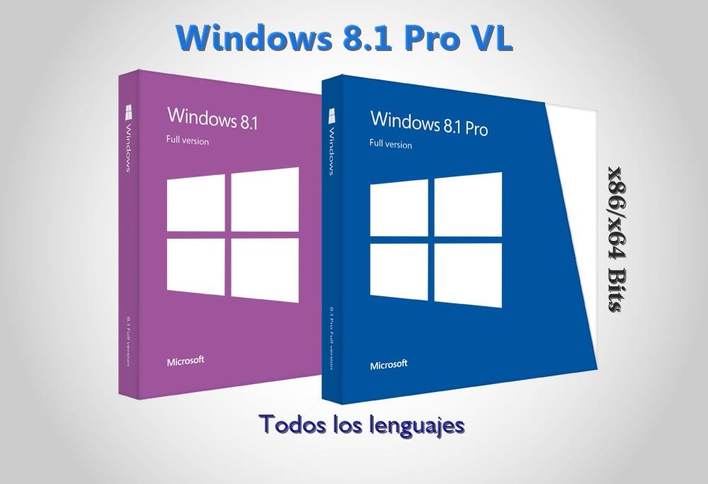 Windows 8.1 Pro VL Español [32 / 64 Bits] [Todos los lenguajes] (Full ...