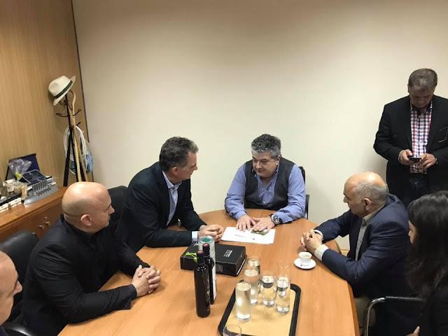 Γιάνης Μπουντρούκας και Νίκος Παπανδρέου περιόδευσαν μαζί στην Κόρινθο