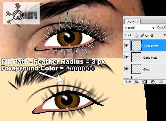 membuat vector bulu mata menggunakan photoshop - tutorial membuat vector di photoshop - membuat foto menjadi kartun dengan photoshop