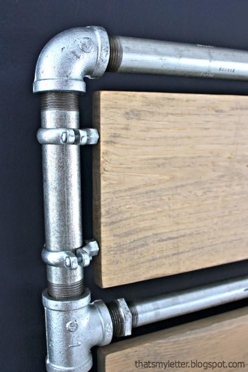 DIY Pipe & Wood Slats Bed - Jaime Costiglio