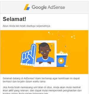 Daftar google adsense di terima