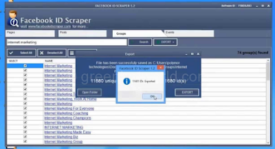 Facebook ID Scraper (Windows Software)