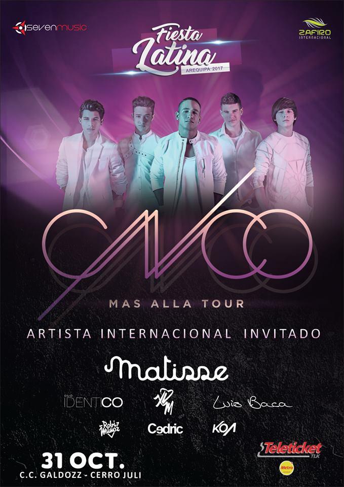 CNCO, Tour más allá en Arequipa - Cancelado