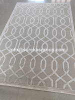 hand-knotted wool silk rug