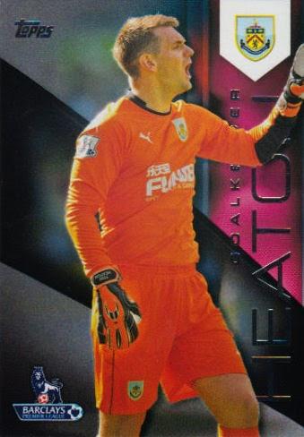 Blanco Topps Premier Gold fútbol 13//14 reliquia tarjeta Phil Jagielka