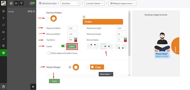 Cara Mudah Memasang Live Chat di Blogger atau Website dengan Tawk - Menu Pengaturan Tampilan Pesan di Tawk 4
