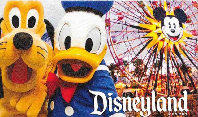 Disneyland Resort Paradise Pier Donald Pluto Ticket