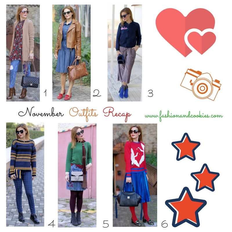 November fashion outfits recap on Fashion and Cookies fashion blog, fashion blogger style