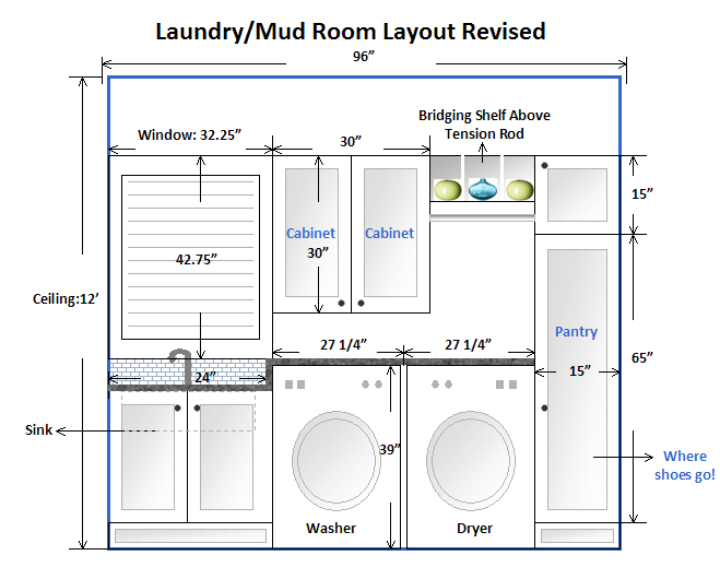 Am dolce vita laundry mud room makeover taking the plunge - Laundry room floor plans ...
