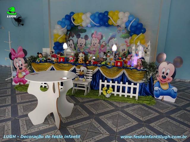 Decoração infantil tema Baby Disney para festa de aniversário