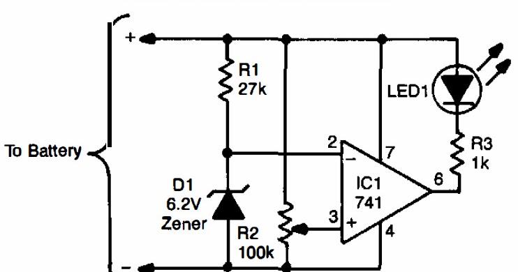 low battery indicator circuit diagram electronic repairing