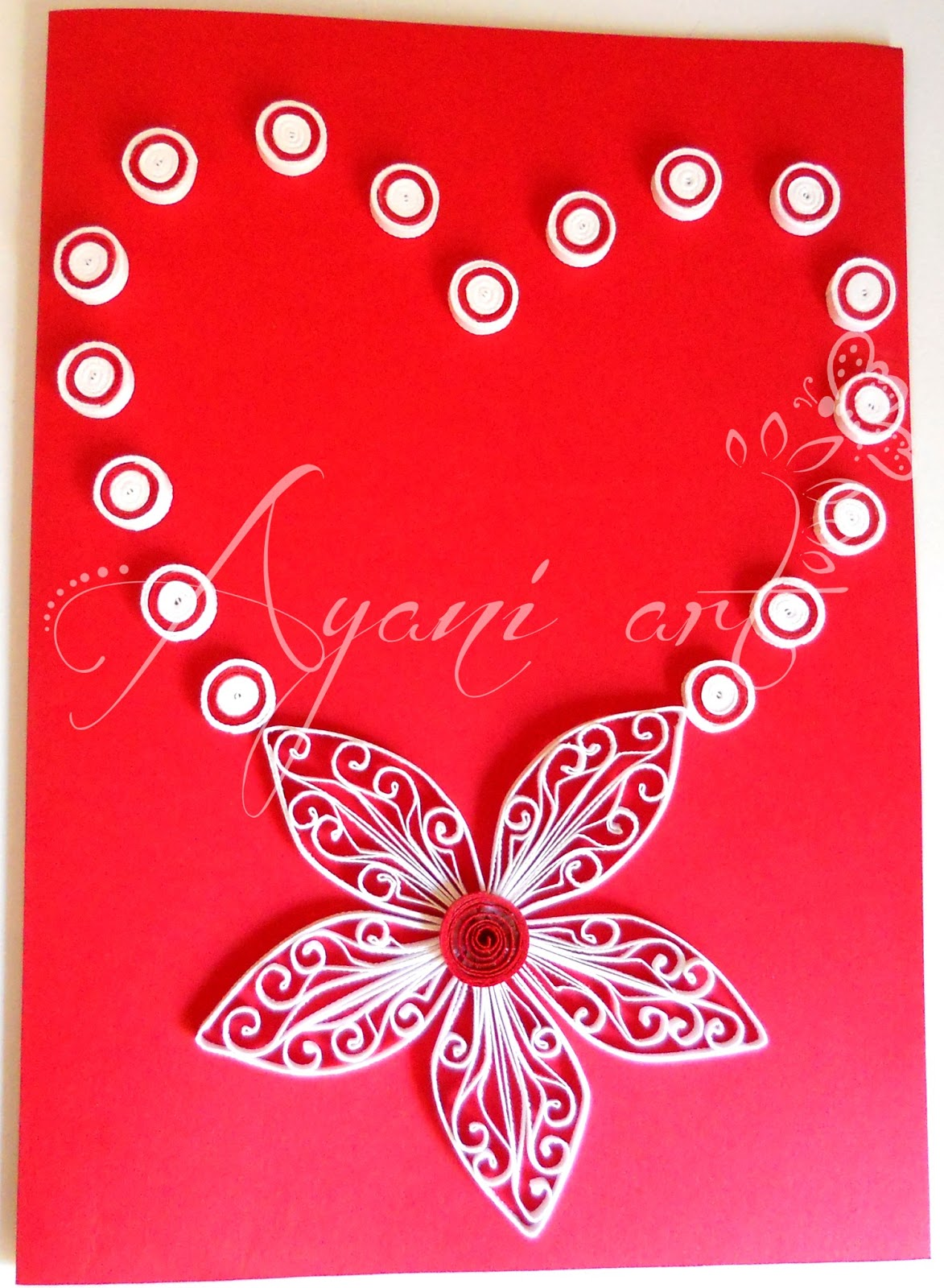 Ayani Art Quilled Valentine Cards