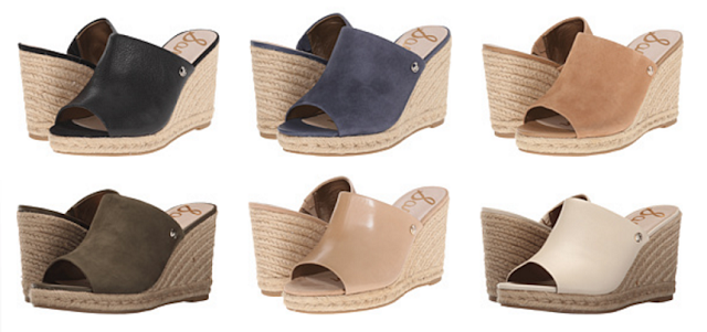 Sam Edelman Bonnie Wedges for only $30-$55 (reg $110)