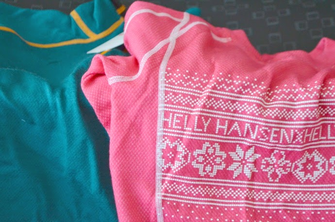 packing for a family ski holiday, ski essentials, helly hansen thermals