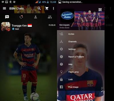 BBM MOD Messi Barca Clone